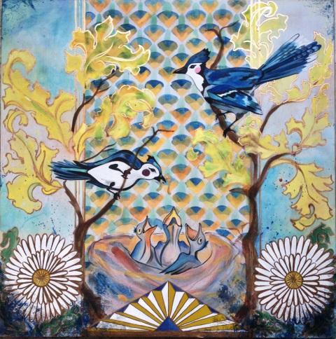 Nikki Pilgrim orginal painting. copyright nikkipilgrim